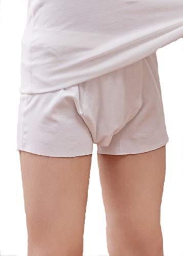 Nasse Kids Boys Free-Cut Boxer Briefs Cotton Underwear (L, ()