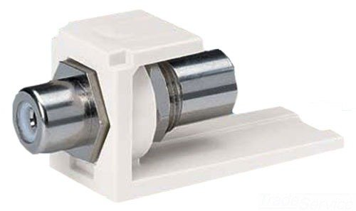 Panduit CMRPWIW 1-Port Pass Through Module with RCA Coupler and Office White Housing/White Insert ()