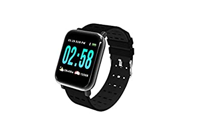 Ckyrin A6 Large Color Screen Blood Pressure Smart Watch,Heart Rate Monitor Smart Bracelet Watch Sport Sleep Step Counter Activity Fitness Tracker Monitor Band