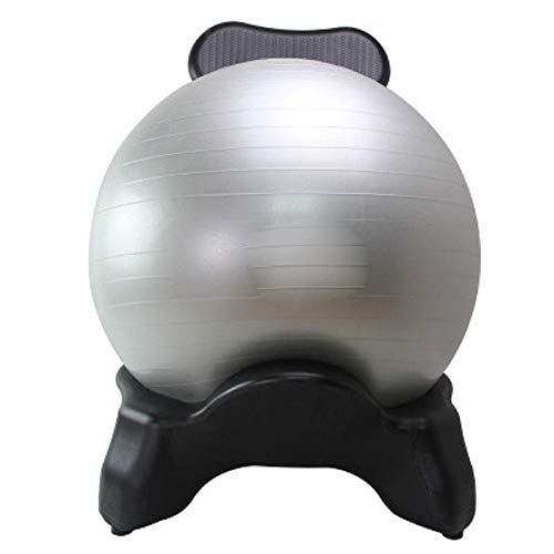 YUEWO Yoga Ball Chair Balance Ball Chair Exercise Stability Ball Premium Ergonomic Chair Home Office Fitness Seat Office Chair Stool Chair Desk with Air Pump Gray