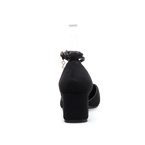 BalaMasa Womens Sandals Closed-Toe Fabric Fashion Pointed-Toe Sandals ASL04673 Black he35j7SM4