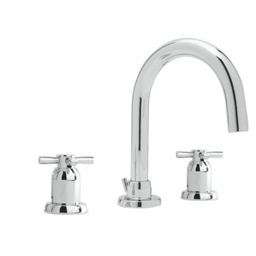 Rohl U.3956X-APC-2 Perrin and Rowe Widespread High Arc Spout Bathroom Sink Faucet, Chrome (Double Rowe Lavatory Handle)