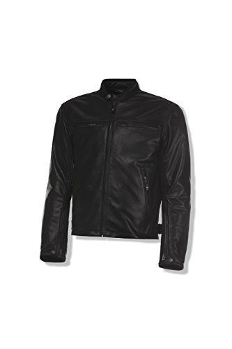 Olympia Sports Men's Bishop Leather Jacket (Black, XX-Large)