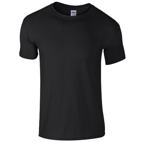 T Manches Soft Pour shirt Chiné À Gildan Saphir style™ Courtes Homme gvf76Yyb