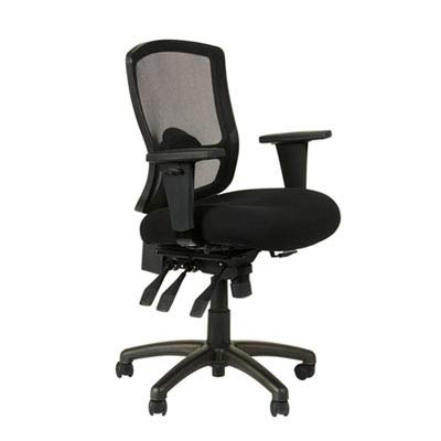 Mid Back Multifunction Fabric - Alera ALEET4017 Etros Series Petite Mid-Back Multifunction Mesh Chair, Black