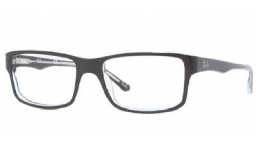 Ray-Ban Men's Rx5245 Square Eyeglasses,Top Black & Transparent,52 - Ban Ray History