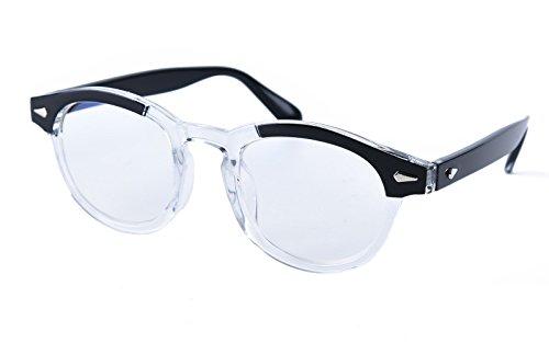 Beison Computer glasses Optical Eyeglasses Frame Spectacles Clear Lens (Black / Clear, - Spectacles Black Frame
