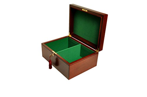 - Large Mahogany Premium Chess Box - Without Logo - by The House of Staunton