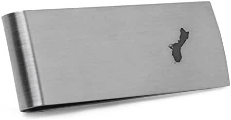 Guam Money Clip   Stainless Steel Money Clip Laser Engraved In The USA.