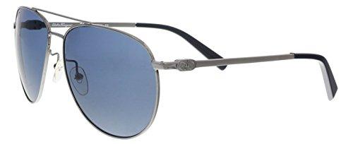 Salvatore Ferragamo  Men's SF157S Dark Gunmetal Sunglasses
