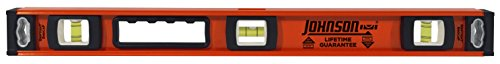 Johnson Level and Tool 1253-2400 Johnson 24-Inch Heavy Duty Professional Aluminum Level Aluminum Heavy Duty Level