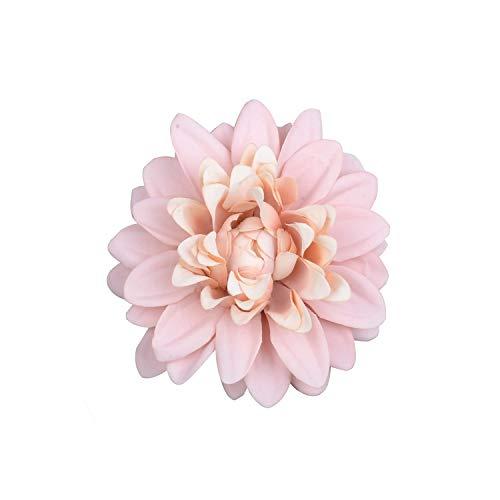 50PCS 10cm Dali Chrysanthemum Artificial Silk Flower Head for Home Wedding Party,Champagne -