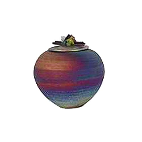 Raku Dream Catcher Jar with Gemstone Lid (Wishing ()