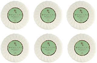 Bvlgari Au the Vert (Green Tea Soap) - 2.6oz/75 Grams Each - Set of 6