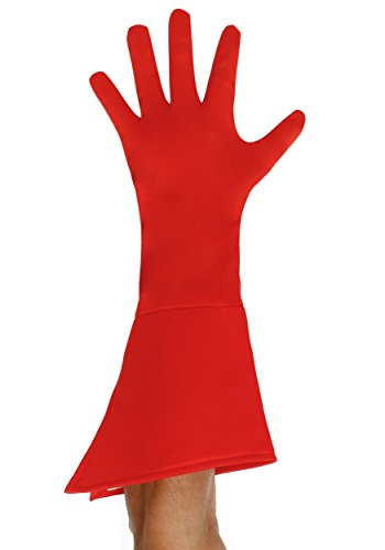 Super Hero Gloves (Adult Red Superhero Gloves Standard)