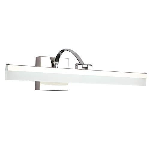 SAILUN Bathroom Vanity Light Fixture 28 Inch 16W Vanity Mirror Light Stainless Steel Acrylic Wall Light for Bathroom Dressing Room 3500K 1650LM - Cold White - Light Chrome Wall Bar