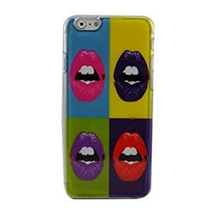 Beautiful Lips Plastic Hard Back Cover for iPhone 6 Plus