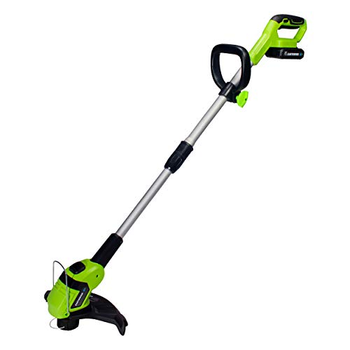 Earthwise LST02010 20-Volt 10-Inch Cordless String Trimmer, 2.0Ah Battery & Fast Charger Included (Best Battery Powered Weed Trimmer)