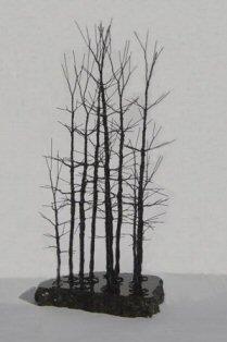 Bonsai Boy's Wire Bonsai Tree Sculpture - Forest Scene