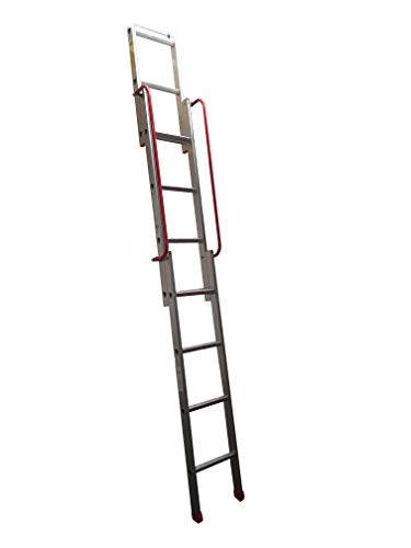 BPS Access Solutions Slider 3 Section Sliding Loft Ladder With 2 Handrails