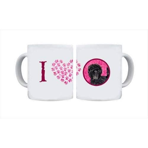 CoolCookware 15 oz. Affenpinscher Dishwasher Safe Microwavable Ceramic Coffee Mug from Cocobeen