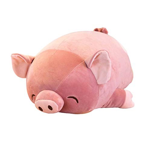 1pc 60cm Children's Plush Toy Soft Lying Pig Doll Pig Plush Toy Stuffed Dolls Kids Gift(Peach Heart Pig)