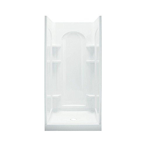 Sterling Plumbing 72210100-0 Ensemble Shower Kit, 42-Inch x 34-Inch x 75.75-Inch, White