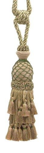 (Lavish Olive Green, Champagne Large Curtain & Drapery Tassel Tieback/Large 11