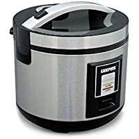 Geepas Electric Rice Cooker, Silver/Black, GRC4330, 1.8 litre