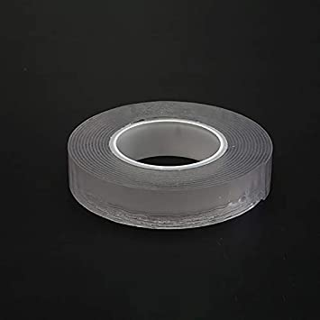 FreeLeben 300cm Adhesive Tape Double Sided Nano Transparent No Trace Magic Tape Acrylic Reuse Waterproof Adhesive Tape Cleanable