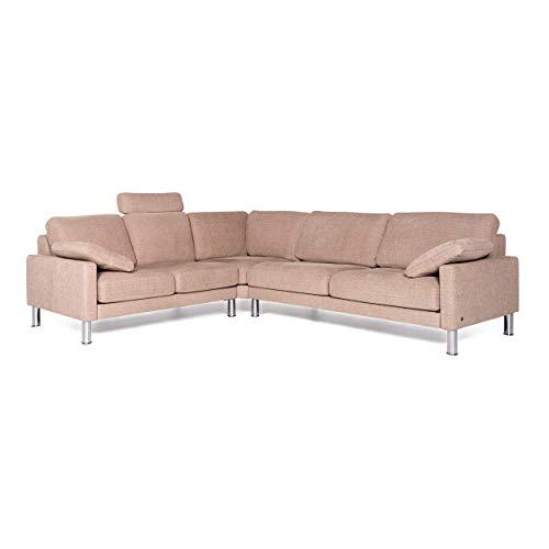 Rolf Benz Ego Designer Fabric Sofa Beige Corner Sofa Couch
