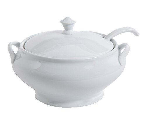 Tureen Large - Gibson Elite 101986.03RM Gracious Dining Soup Tureen with Ladle Ware, 12.75
