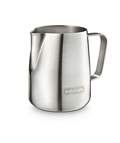 Genuine DeLonghi Brushed Stainless Steel Milk Frothing Jug in Box **READ**