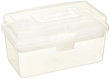 eDealMax forma de rectángulo 2 capas de caja de almacenaje de herramientas CASE con la manija