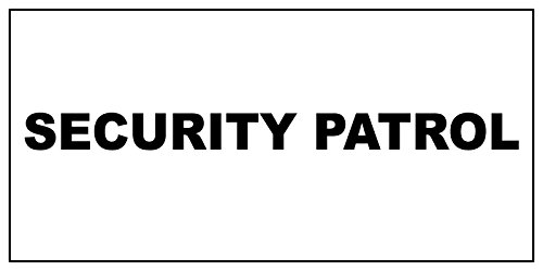 Fastasticdeals Security Patrol Black Car Door Magnets Magnetic Signs-Qty 2/9 x 12 Inches