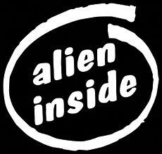 CCI Alien Inside Decal Vinyl Sticker|Cars Trucks Vans Walls Laptop| White |5.5 x 5.25 in|CCI1101 (Alien X Ben 10)