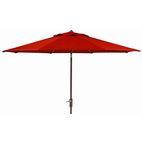 Sunbrella 10 Ft. Patio Market Umbrella With Auto Tilt (Red) (Sunbrella Red)