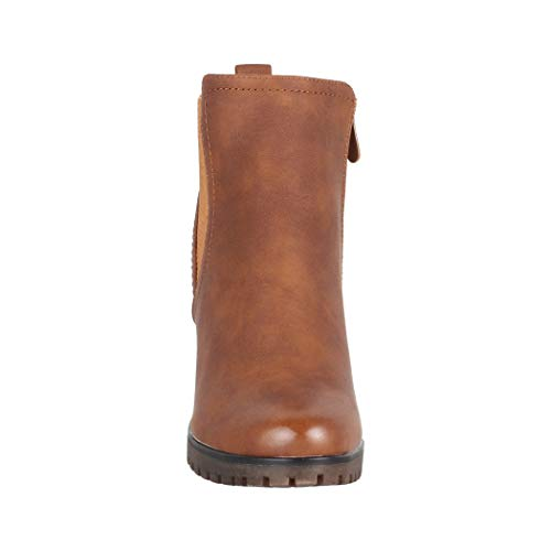 Boots Camel Berlin Femme Bottines Elara Tendance Pour Ankle Chunkyrayan waBZXqfn