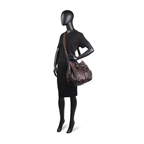 LOIS saquito Marron para Brand Color bandolera tipo Gris mujer Authentic Bolso Metalizado 1Xr1wq4