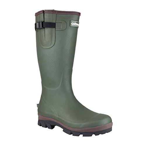 Cotswold Mens Grange Neoprene Buckle Welly Wellington Boot Green Green
