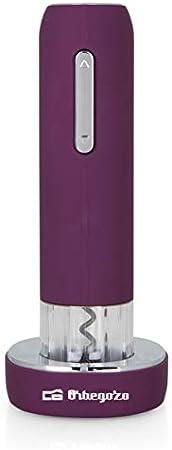 Orbegozo CU 4000 - Sacacorchos eléctrico recargable, sencilla extracción y recuperación del corcho, incluye corta cápsulas