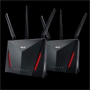 Asus RT-AC86U IEEE 802.11ac Ethernet Wireless Router - 2.40 GHz ISM Band - 5 GHz UNII Band(1 x Internal) - 2917 Mbit/s Wireless Speed - 4 x Network Port - 1 x Broadband Port - USB - Gigabit Ethernet -
