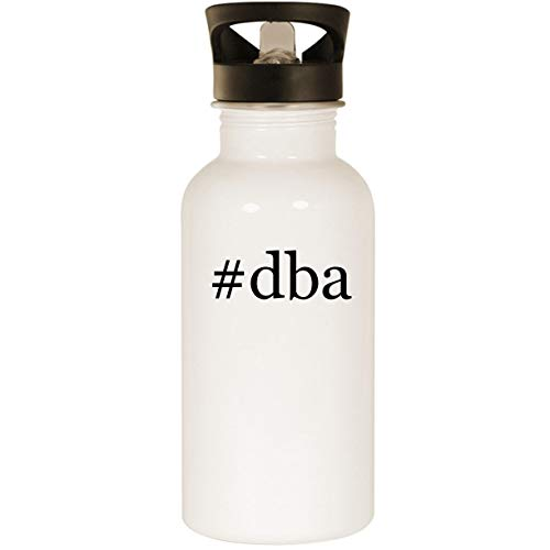 #dba - Stainless Steel Hashtag 20oz Road Ready Water Bottle, White