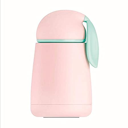 Cute Rabbit Travel Thermos Mug, Stainless Steel Insulated Bunny Coffee Thermos for Kids Rabbit Water Bottle, 300ML (Pink) Txyk