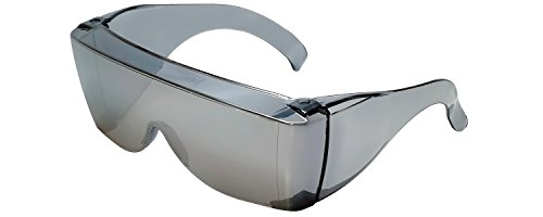 Calabria 3000 Large Square Over UV Protection in Silver Mirror