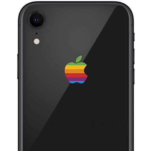 LE 8-BIT Retro Apple Rainbow iPhone XR Decal Sticker for The iPhone XR and iPhone Xs iPhone Xs -