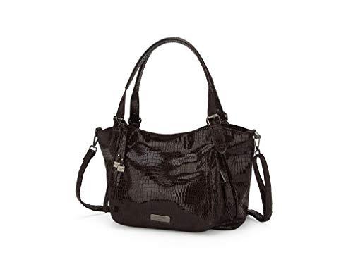Tracolla spalla Gift verniciato Idea Angkorly Fashion Format Rock Tote Brown Coccodrillo Modern Elegante Tracolla Studente Working Girl Bag A4 Donna a tqxgE