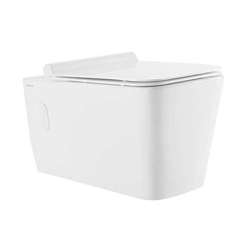 Swiss Madison Concorde Wall Hung Toilet Bowl Dual Flush Wall Mount (Soft Closing Quick Release Seat Included)
