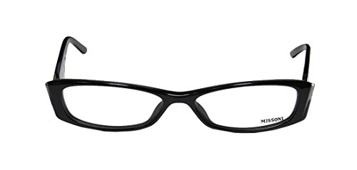 Missoni 07801 WomensLadies Vision Care New Collection Designer Full-rim EyeglassesEyeglass Frame (53-15-135 Black  Silver)