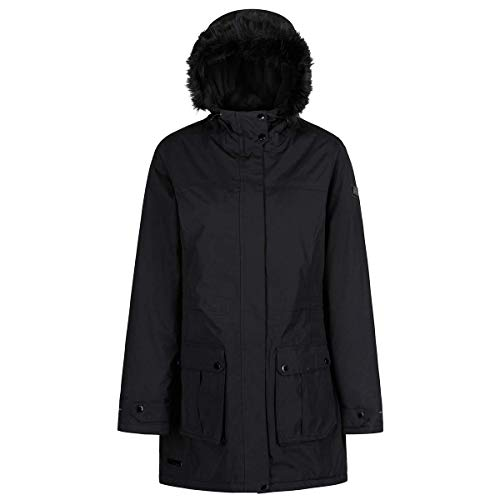 Faux Fur Mujer Regatta Insulated Waterproof And Hooded Thermoguard Negro Chaqueta Sherlyn yrnBBW1PzX